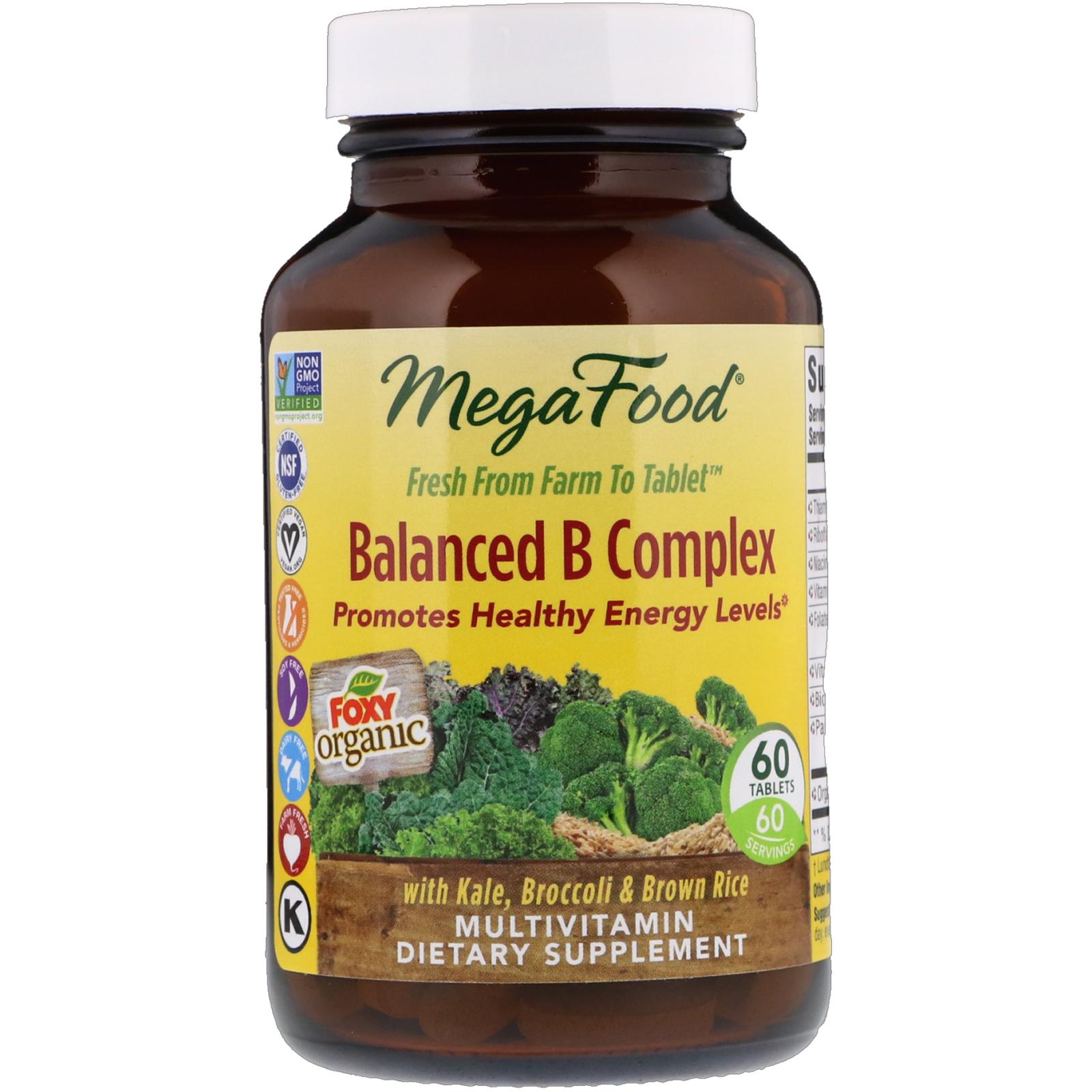 Balanced B Complex - 60 Tablets by MegaFood