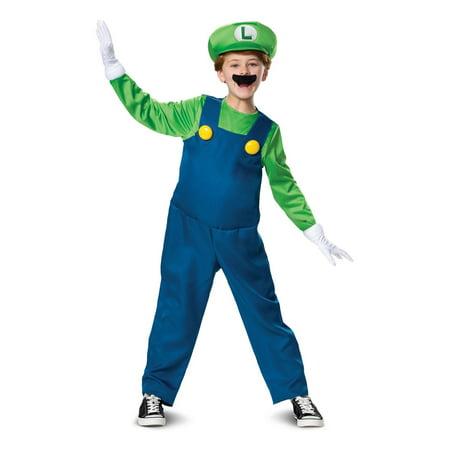 Mario And Luigi Halloween Costumes For Babies (Halloween Luigi Deluxe Child)