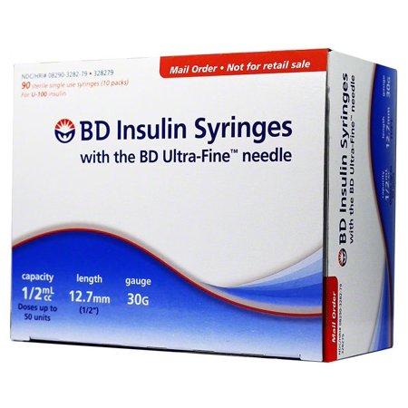 BD Ultra-Fine Syringes 0 5cc 12mm 30g