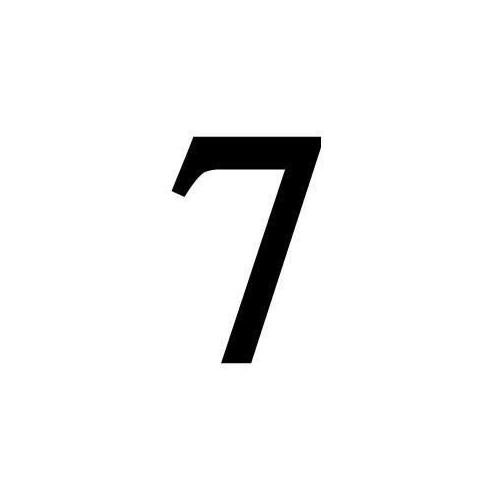 Wrought Iron House Number 7 Black Metal 6