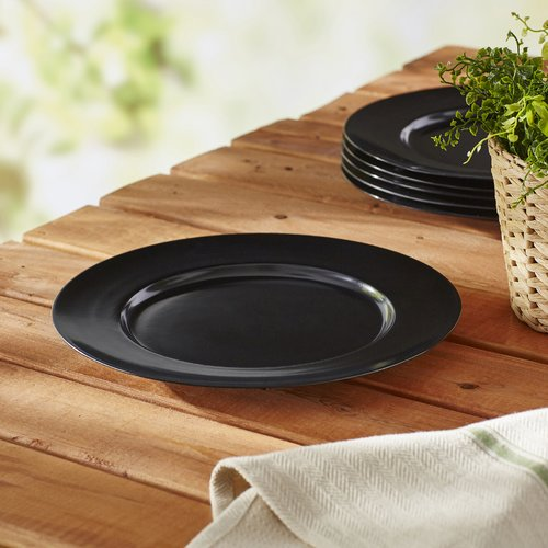 Calypso Basics, 6pc Melamine Dinner Plate Set, Red