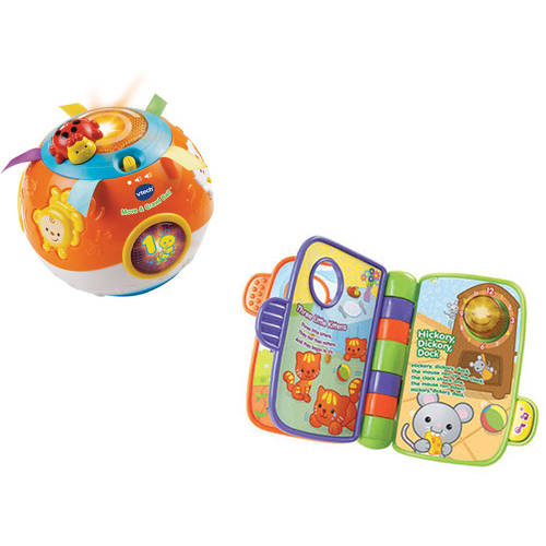 VTech Move and Crawl Ball and Storytime Rhymes Book