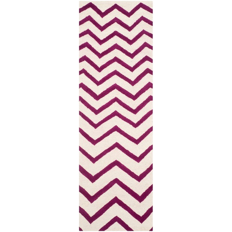 Safavieh Cambridge 8' X 10' Hand Tufted Wool Rug in Ivory and Fuchsia - image 6 of 10