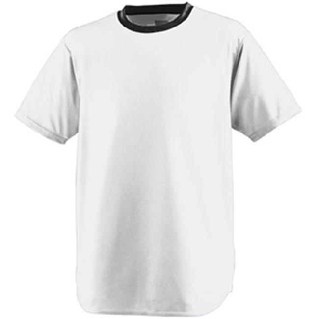 Augusta 248A Wicking Softball Jersey - Silver and Black, Medium
