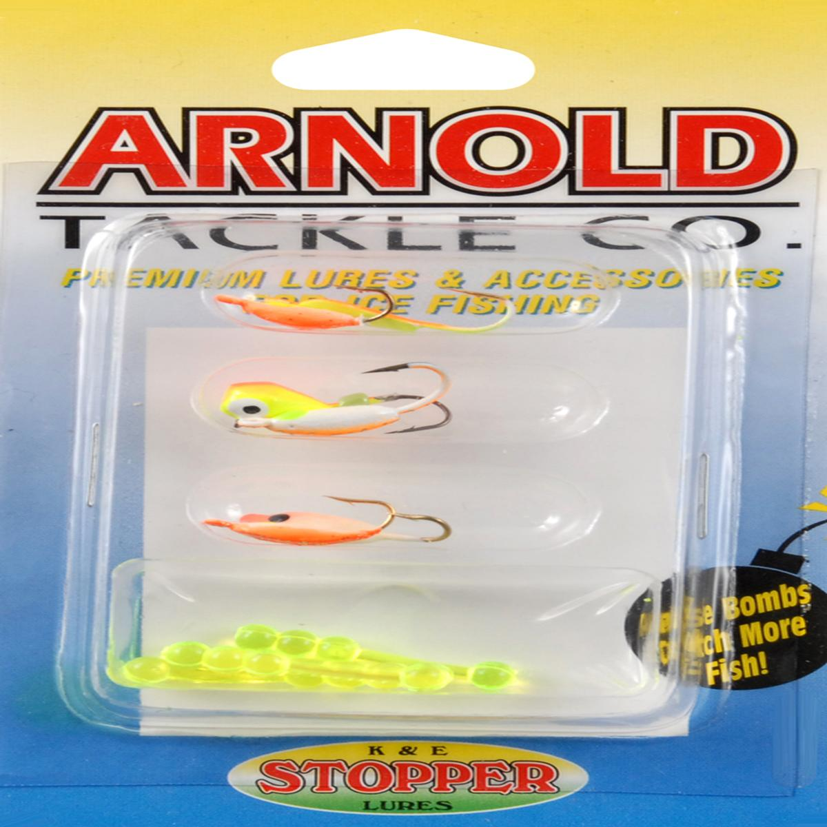 ICE JIG ASST 6 PK-ORG/CHT Multi-Colored