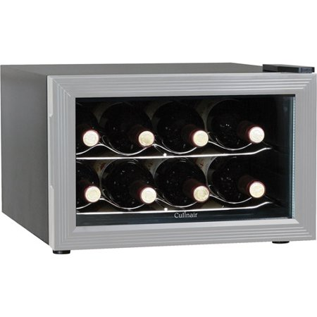 Culinair 8-Bottle Wine Cooler, AW82S, Silver