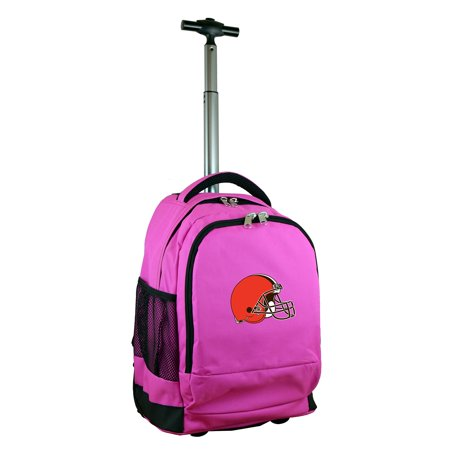 Cleveland Browns 19 Premium Wheeled Backpack - Pink