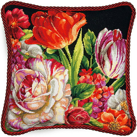 Bouquet Needlepoint (Dimensions Needlepoint Kit, Bouquet on Black)