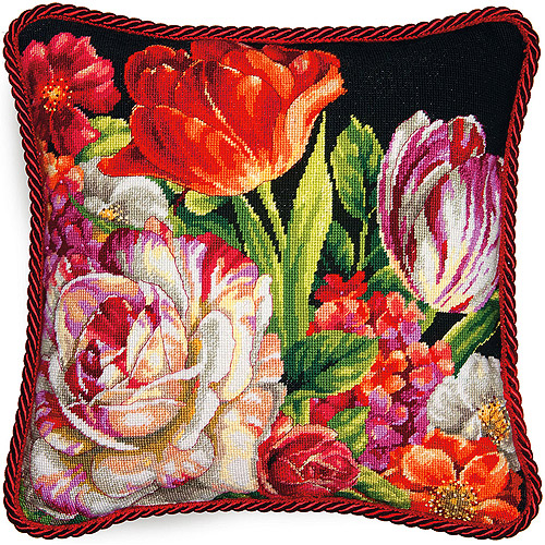 Dimensions Needlepoint Kit, Bouquet on Black