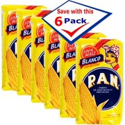 P.A.N.  Precooked White Corn Meal 35.7 oz Pack of 6