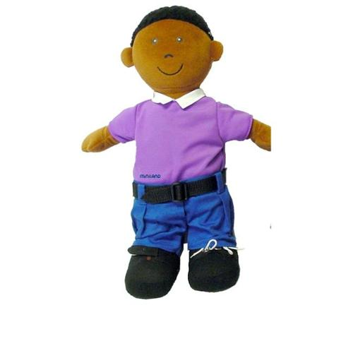Miniland Educational 96303 Etni African-American Fastening Doll-Boy