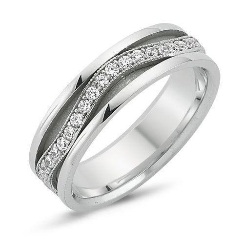 925 STERLING SILVER MENS WEDDING BAND RING  6MM SZ 4-13
