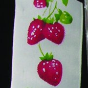 """White, Red and Green Wired Taffeta Print Strawberry on the Vine Garden Craft Ribbon 1.5"""" x 27 Yards"""