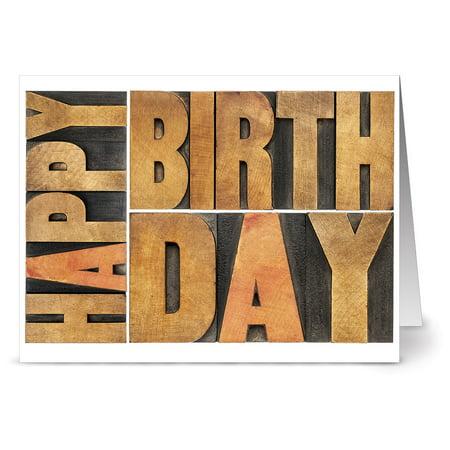 24 Birthday Note Cards - Birthday Wishes - Blank Cards - Kraft Envelopes (Birthday Nose)