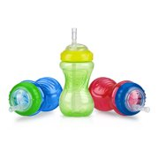 Nuby Active Sipeez Flex Straw Sippy Cup - 3 pack