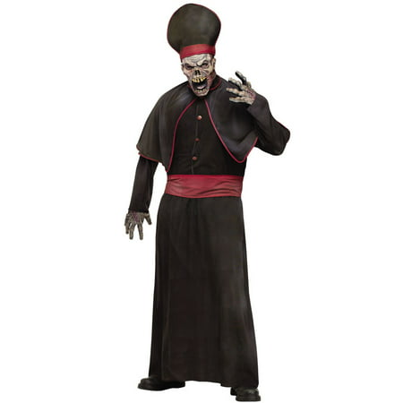 Zombie Priest Men's Adult Halloween Costume, One Size, (44) - Zombie Halloween Skin