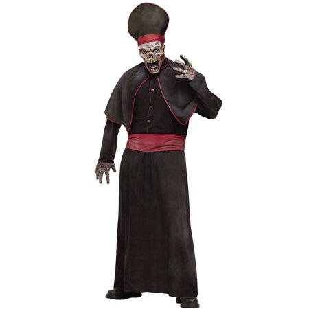 Halloween Priest Costume (Zombie Priest Men's Adult Halloween Costume, One Size,)