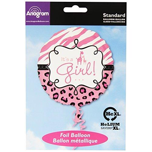 "18"" It's a Girl Giraffe Safari Balloon Baby Shower Party Decorations"