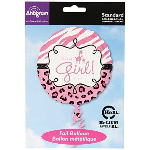"18"" It's a Girl Giraffe Safari Balloon Baby Shower Party Decorations"