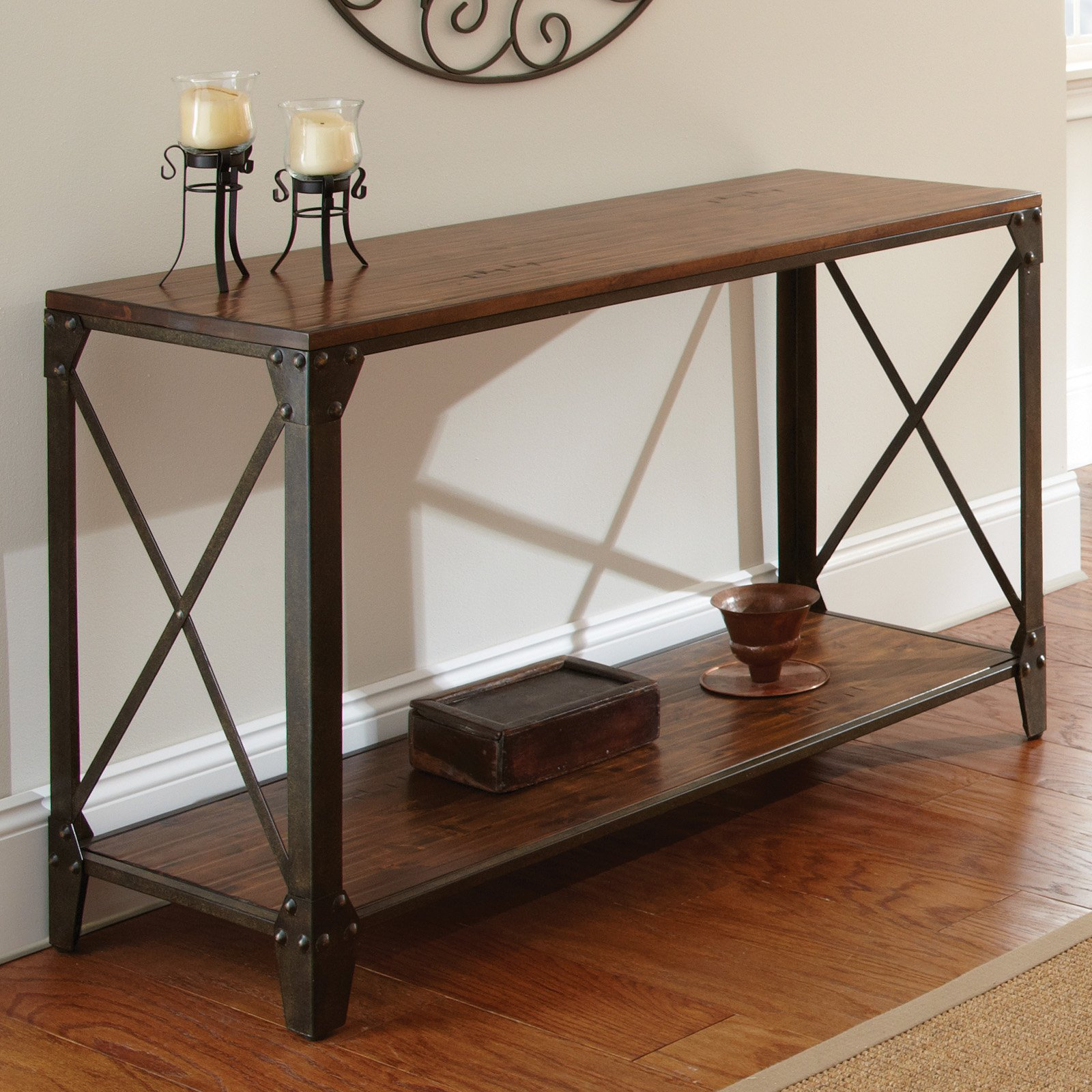 Steve Silver Winston Sofa Table - Distressed Tobacco