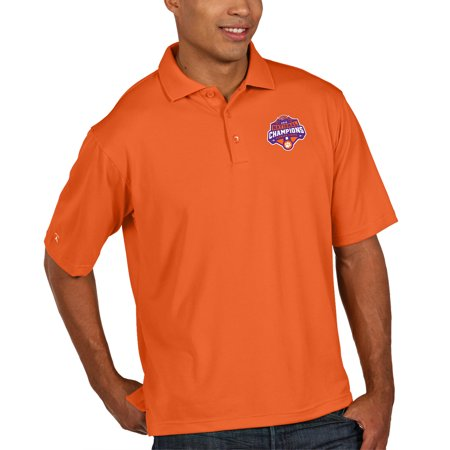 Clemson Tigers Antigua College Football Playoff 2018 National Champions Pique Xtra-Lite Polo -