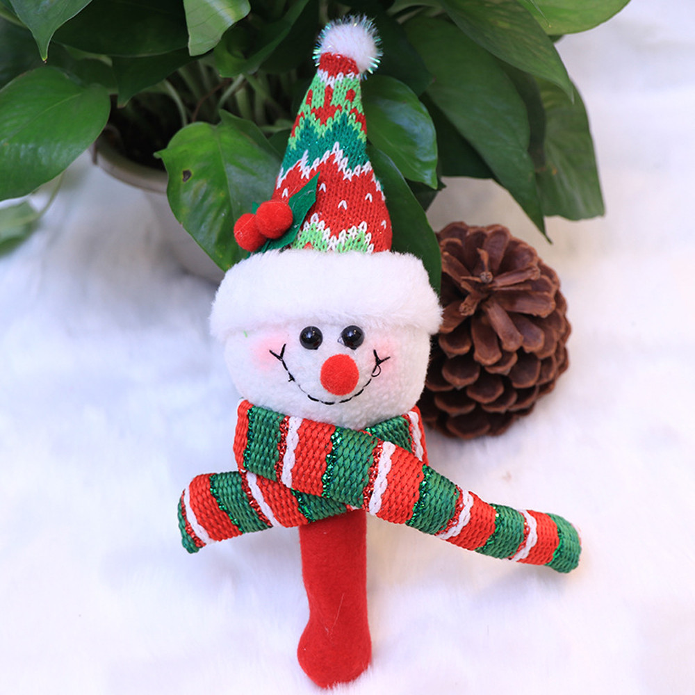 Christmas Santa Claus Hand Bells Baby Soft Toys Developmental Rattle Bed Kids
