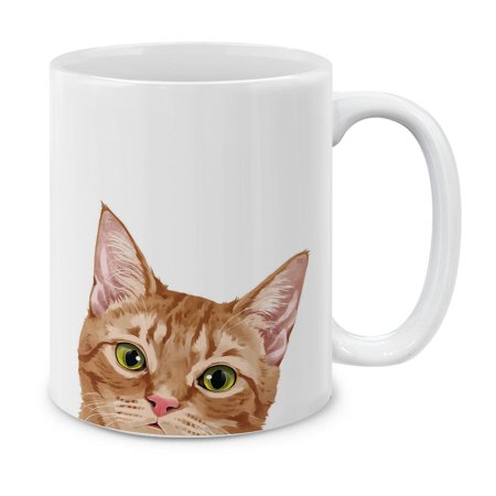 Turkey Cups (MUGBREW 11 Oz Ceramic Tea Cup Coffee Mug, Orange Tabby Kitten Cat )