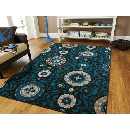 Century Rugs Area Rugs On Clearance Black Blue Cheap Rugs