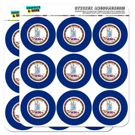 Pack Laser Stickers Flag Design - Virginia State Flag 2
