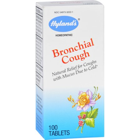 Bronchial Asthma Relief - Hyland's Bronchial Cough Tablets, Natural Relief of Cough with Mucous Due to Cold, 100 Count
