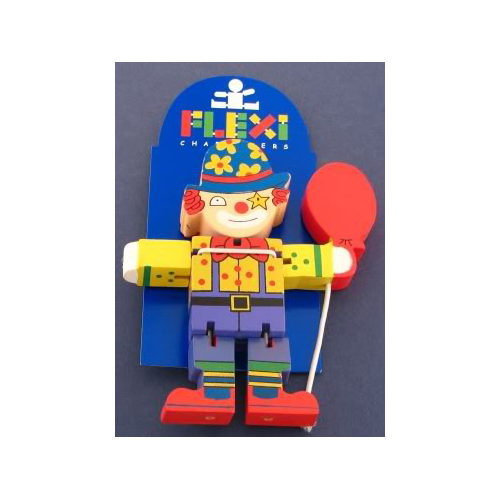Wooden Clown Flexi Character by The Toy Workshop