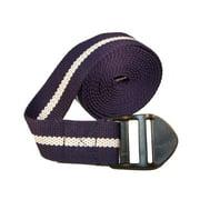 "Yoga Strap 8"" (Navy with Cream Stripe)"