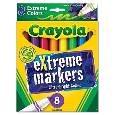 Extreme Color Marker, Assorted, 8/Pack, Sold as 1 Set, 8 Each per Set