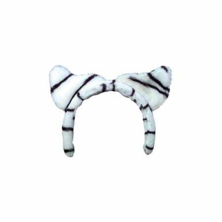 White Tiger Ears Headband by Rhode Island Novelty - PLTIGEA-WT
