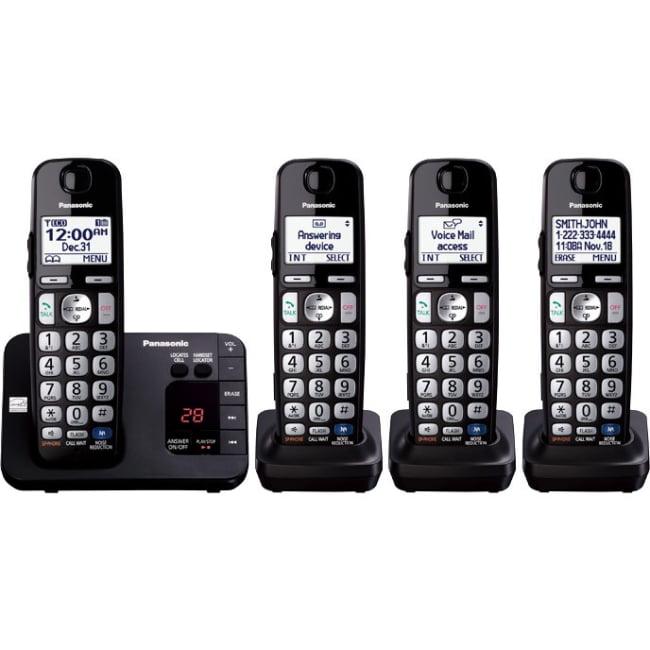 Panasonic Kx-tge234b Dect 6.0 1.90 Ghz Cordless Phone Black Cordless 1 X Phone Line 3 X Handset Speaker Phone... by Panasonic