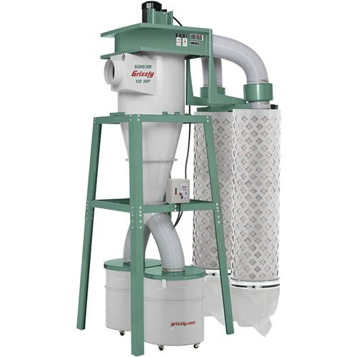 Grizzly Industrial G0638 10 HP 3-Phase Cyclone Dust Collector by Grizzly