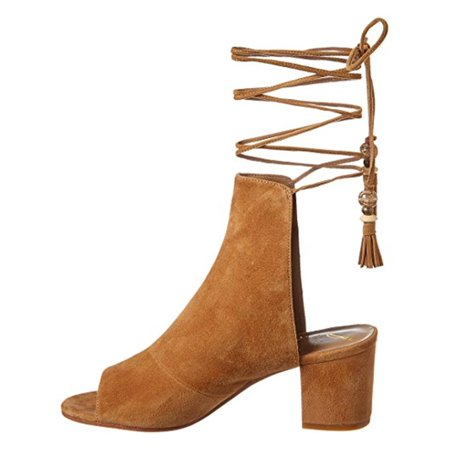 Brian Atwood Womens Bali Ankle Lace-Up Dress Sandals Brown 6 Medium (B,M)