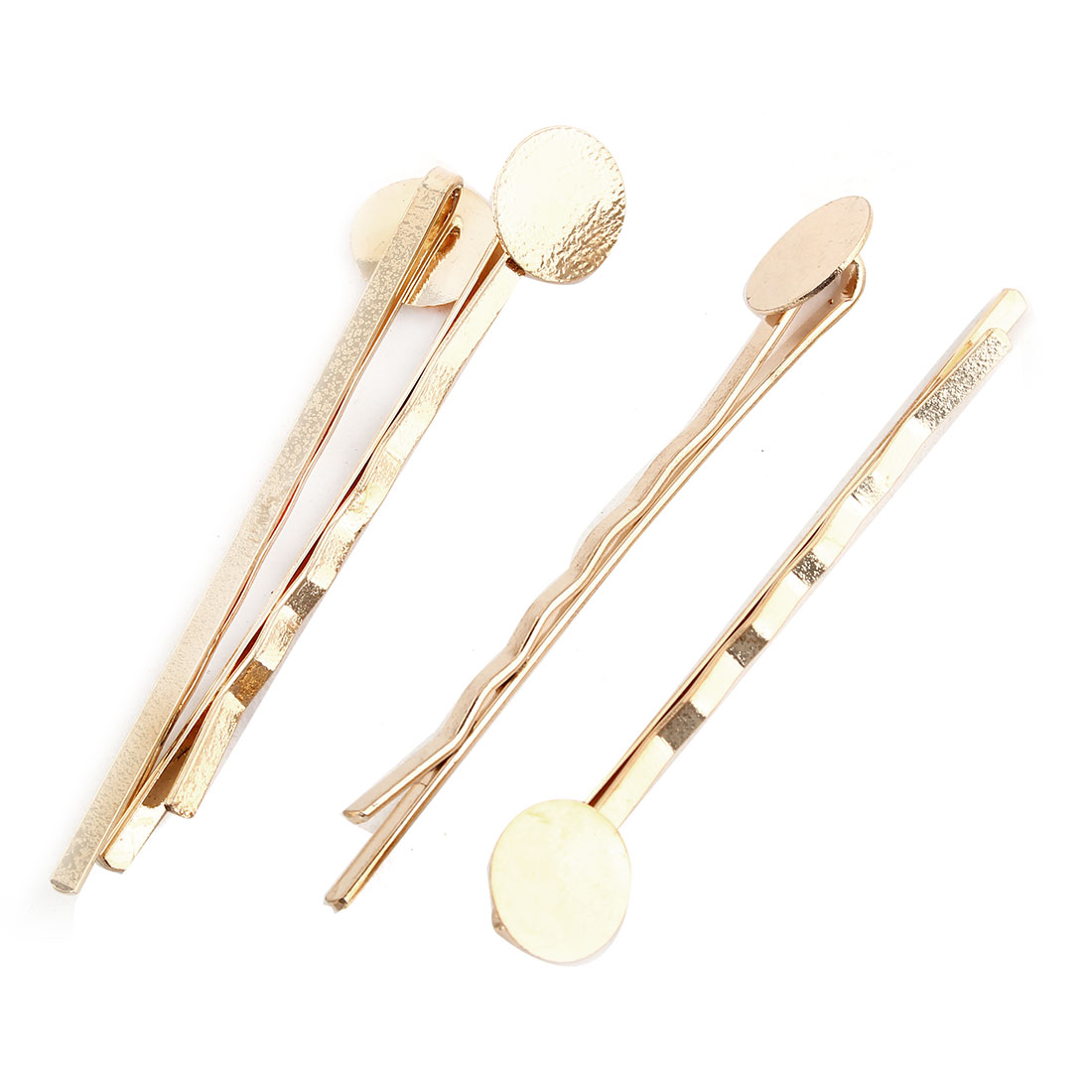 Unique BargainsWomen Hairdressing Barrette DIY Hairstyle Hair Clips Bobby Pin Gold Tone 4pcs
