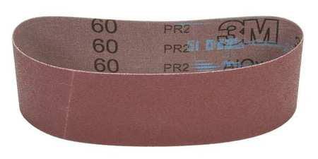 3M 00051144274987 Sanding Belt, 3 In Wx21 In L, AO, 60GR, PK50 by 3M