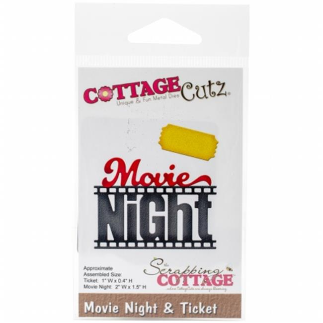 CC095 CottageCutz Die - Movie Night & Ticket