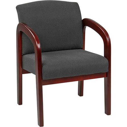Office Star Work Smart Cherry Finish Guest Chair