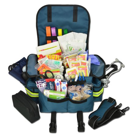 Lightning X Small First Responder Emt Ems Trauma Bag Stocked Aid Fill Kit B