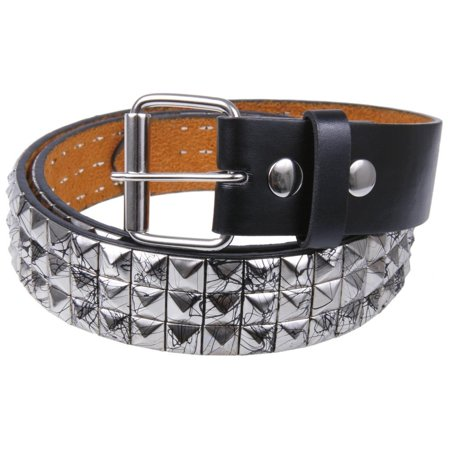Black Splatter Silver Studded Leather Belt - Toddler Studded Belt