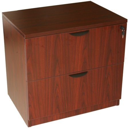 Mocha Cherry 3 Drawer File - Boss Office Products Mahogany Two Drawer Lateral File