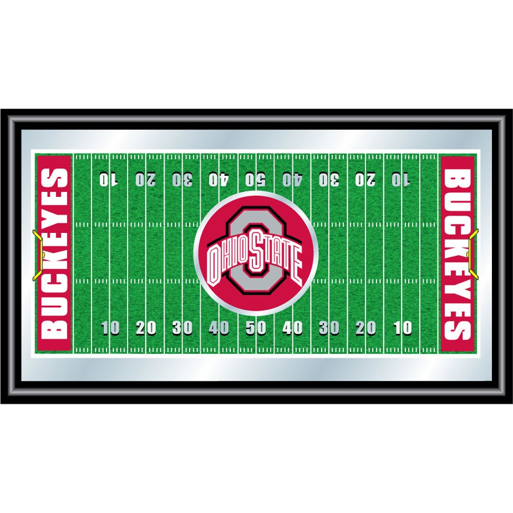 Trademark Gameroom The Ohio State Framed Football Field Mirror