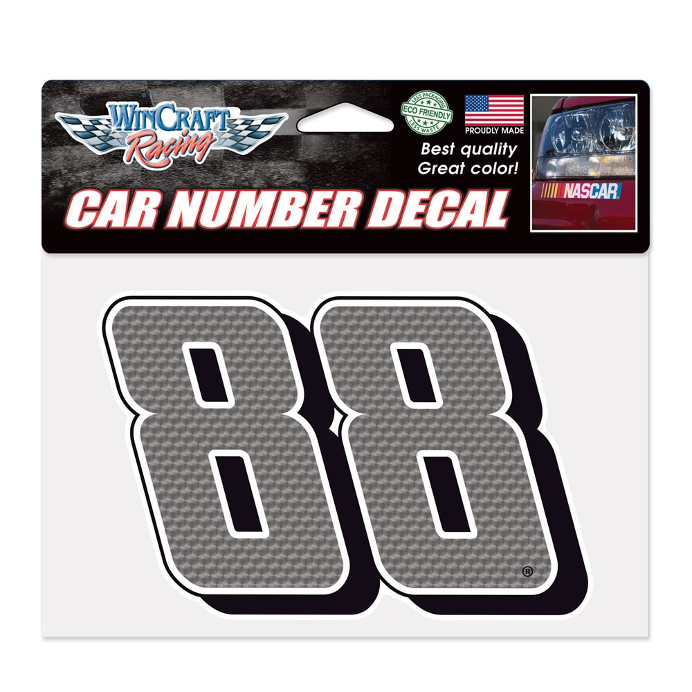 Dale Earnhardt Jr. Official NASCAR 4.75 inch x 7 inch  Die Cut Car Decal by Wincraft