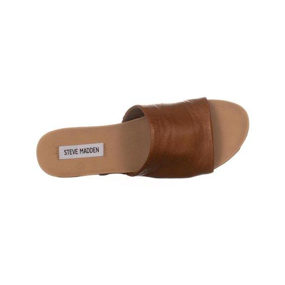 b376ea3ad2 Steve Madden - Womens Steve Madden Genca Platform Slide Sandals, Tan ...