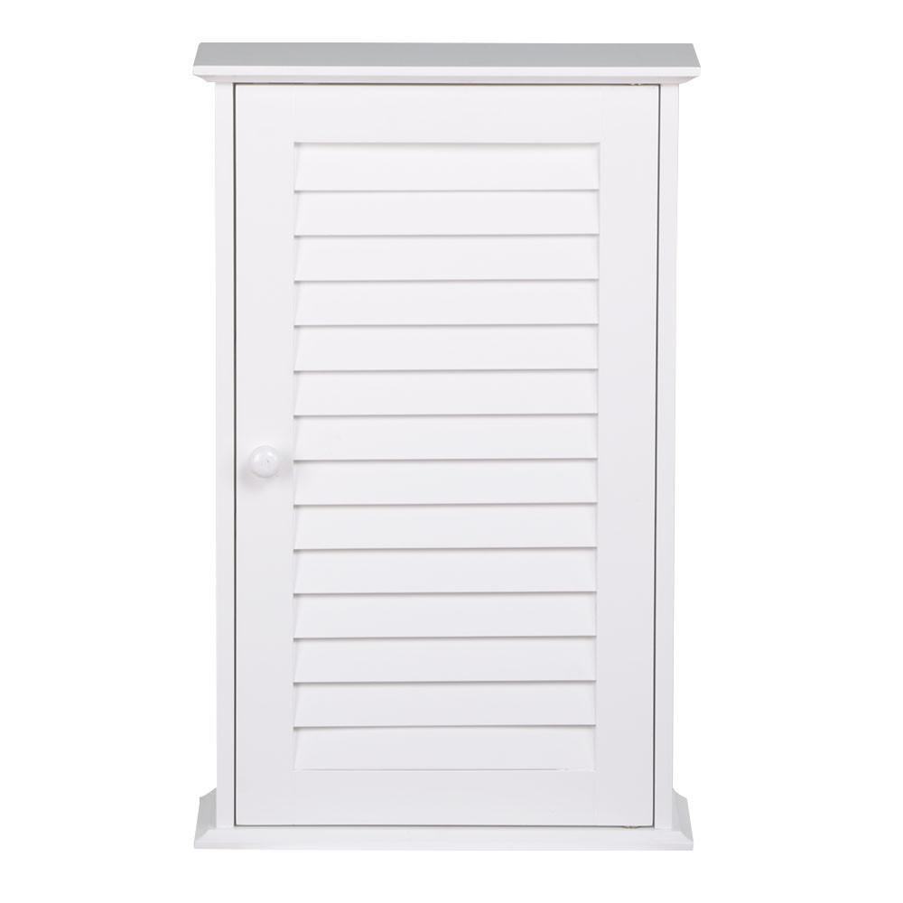 YaHeetech White Wood Bathroom Wall Mount Cabinet Toilet Medicine Storage Organizer Single... by Yaheetech