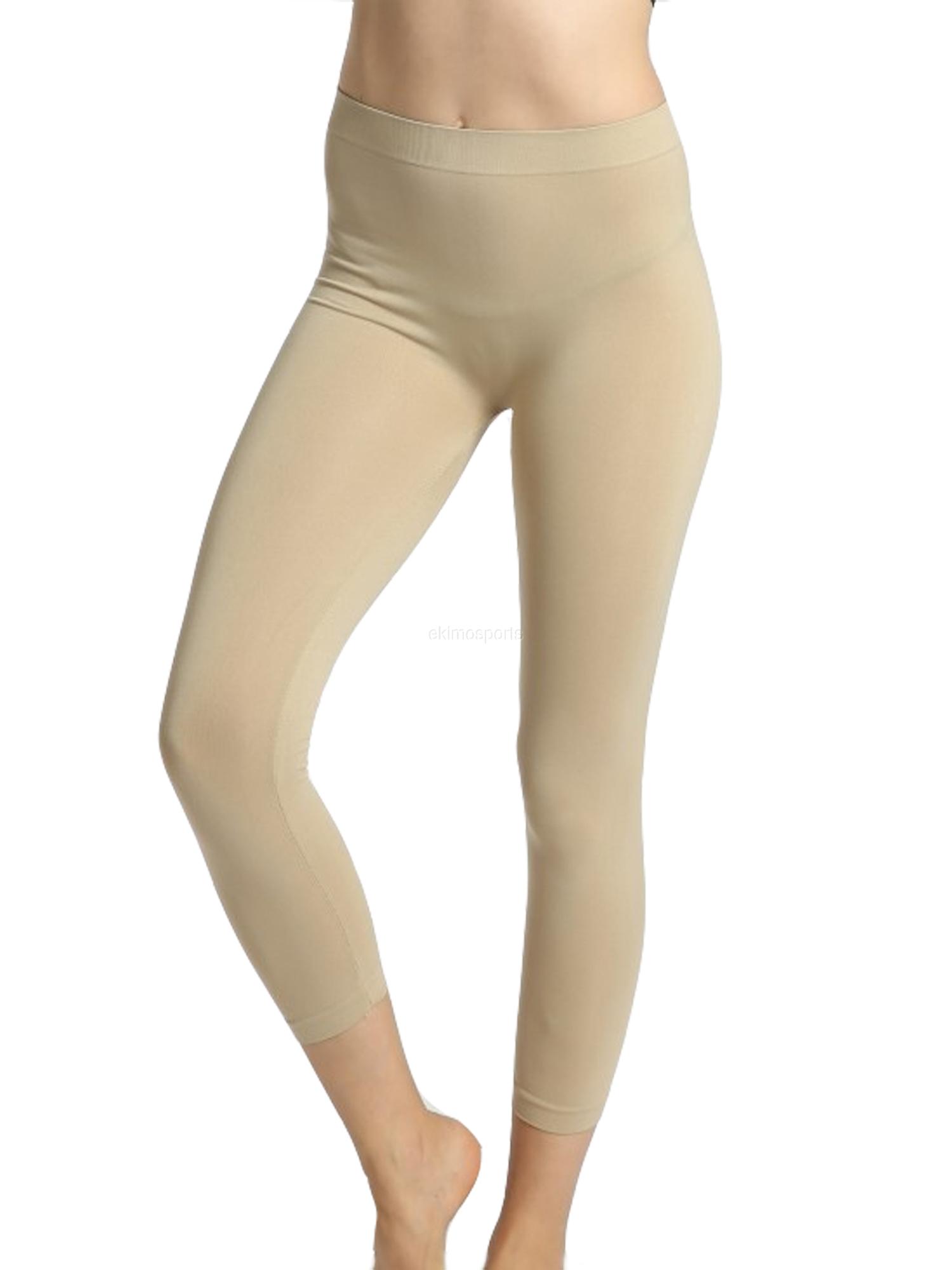 Women Seamless Basic Stretch Capri Sports Yoga Leggings