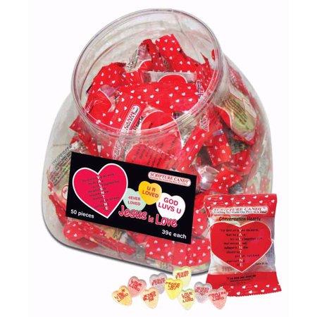 Candy-Valentine Conversation Hearts In - Valentine Conversation Hearts